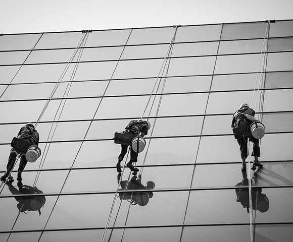 Commercial Window Cleaning Abseil